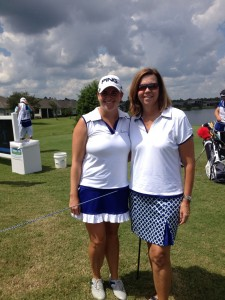 Jackie and Mom wearing GolfHer