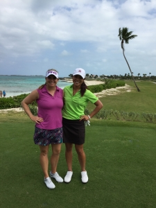 Demi Runas and I played a practice round together.
